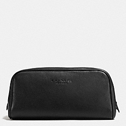 COACH WEEKEND TRAVEL KIT IN LEATHER - BLACK - F93445