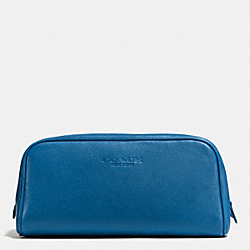 COACH WEEKEND TRAVEL KIT IN LEATHER - DENIM - F93445
