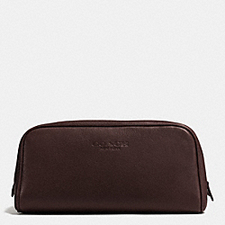COACH WEEKEND TRAVEL KIT IN LEATHER - MAHOGANY - F93445