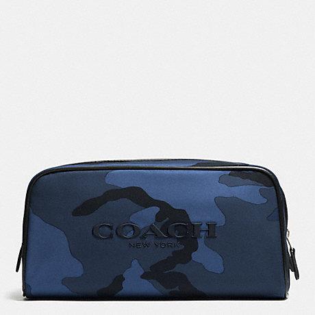 COACH WEEKEND TRAVEL KIT IN NYLON - BLUE CAMO - f93446