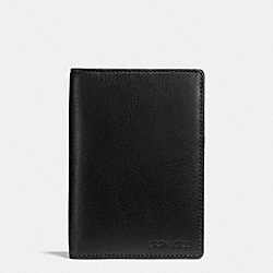 COACH PASSPORT CASE IN LEATHER - BLACK - F93451