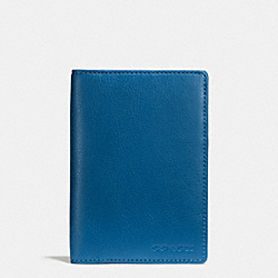COACH PASSPORT CASE IN LEATHER - DENIM - F93451