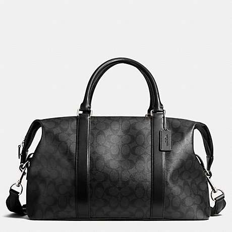 COACH EXPLORER DUFFLE IN SIGNATURE -  SILVER/CHARCOAL/BLACK - f93456