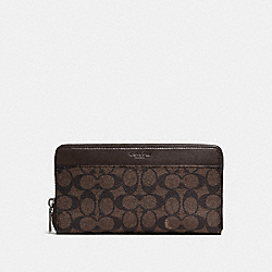 DOCUMENT WALLET IN SIGNATURE CANVAS - MAHOGANY - COACH F93460
