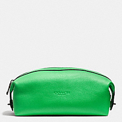 DOPP KIT IN REFINED PEBBLE LEATHER - GREEN - COACH F93466