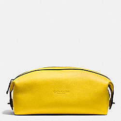 COACH DOPP KIT IN REFINED PEBBLE LEATHER - YELLOW - F93466