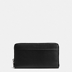 COACH TRAVEL WALLET IN SPORT CALF LEATHER - BLACK - F93482