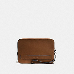 POUCHETTE - DARK SADDLE - COACH F93527
