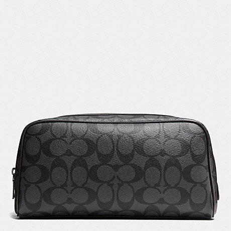 COACH TRAVEL KIT IN SIGNATURE - CHARCOAL/BLACK - f93536
