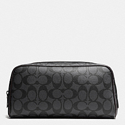 TRAVEL KIT IN SIGNATURE - CHARCOAL/BLACK - COACH F93536