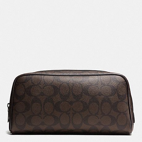 COACH TRAVEL KIT IN SIGNATURE - MAHOGANY/BROWN - f93536