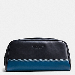 COACH TRAVEL KIT IN BASEBALL STITCH LEATHER - MIDNIGHT NAVY - F93539