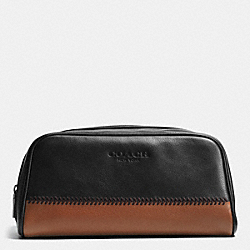 COACH TRAVEL KIT IN BASEBALL STITCH LEATHER - BLACK - F93539