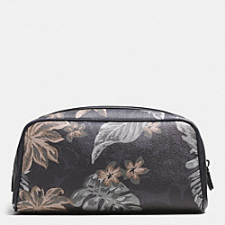 TRAVEL KIT IN TROPICAL PRINT COATED CANVAS - HAWAIIAN PALM - COACH F93560