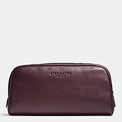 TRAVEL KIT IN PEBBLE LEATHER - OXBLOOD - COACH F93593