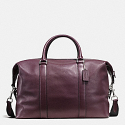 VOYAGER BAG IN PEBBLE LEATHER - OXBLOOD - COACH F93596