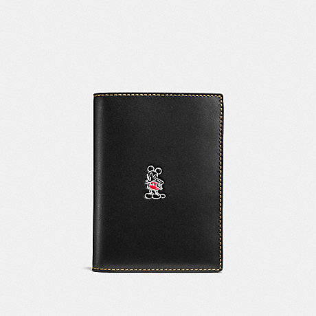 COACH MICKEY PASSPORT CASE - BLACK - F93600