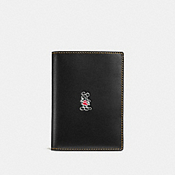 MICKEY PASSPORT CASE - BLACK - COACH F93600