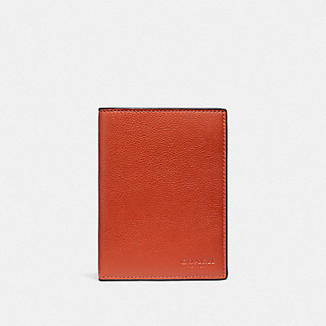 COACH PASSPORT CASE - RUSSET/BLACK ANTIQUE NICKEL - F93604