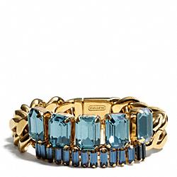 BAGUETTE CHAIN BRACELET - f94006 - GOLD/BLUE