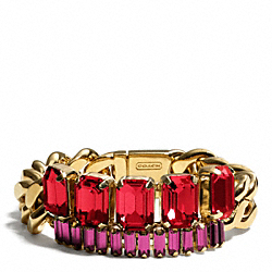 COACH BAGUETTE CHAIN BRACELET - ONE COLOR - F94006