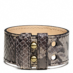 COACH PYTHON COLLAR PIN BRACELET - ONE COLOR - F94014