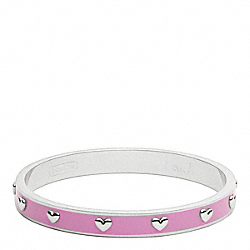 COACH QUARTER INCH NAIL HEAD BANGLE - ONE COLOR - F94026