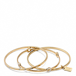 PAVE BANGLE SET - GOLD/CLEAR - COACH F94059