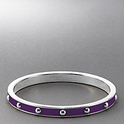 COACH QUARTER INCH NAIL HEAD BANGLE - ONE COLOR - F94078