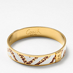 HALF INCH ZEBRA BANGLE COACH F94262