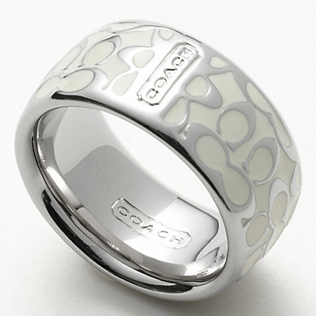 COACH MIRANDA ENAMEL SIGNATURE RING -  - f94346