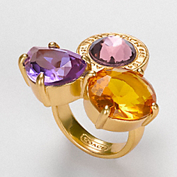 COACH DAPHNE THREE STONE CLUSTER RING - ONE COLOR - F94564