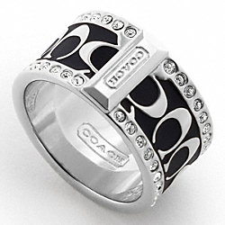 COACH PAVE SIGNATURE ENAMEL RING - ONE COLOR - F94699