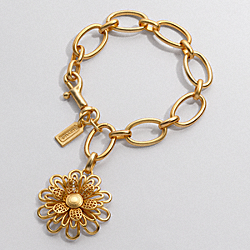 COACH MIRANDA OP ART FLOWER CHARM BRACELET - ONE COLOR - F94960