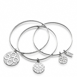 COACH MIRANDA MULTI DISC BRACELET SET - ONE COLOR - F94973