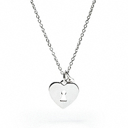 COACH STERLING KEYHOLE HEART PENDANT NECKLACE - ONE COLOR - F95122