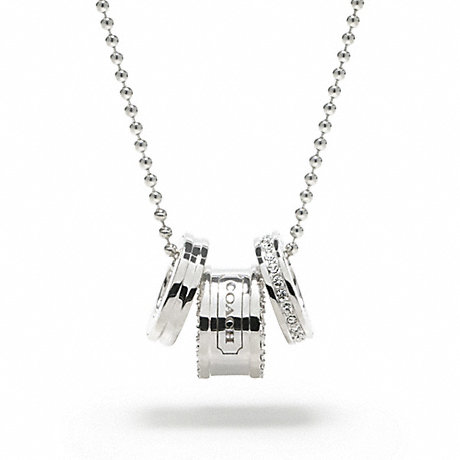 COACH STERLING RONDELLS PENDANT NECKLACE -  - f95125