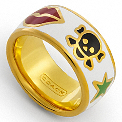 COACH POPPY CHARM RING - ONE COLOR - F95147