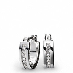 COACH STERLING RONDELL HUGGIE EARRING - ONE COLOR - F95150