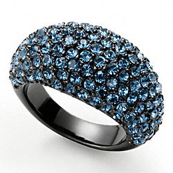 HOLIDAY PAVE DOMED RING COACH F95240