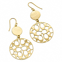 MIRANDA DOUBLE DISC ENAMEL EARRINGS COACH F95337