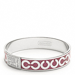 COACH HALF INCH OP ART GLITTER BANGLE - SILVER/PURPLE - F95407