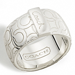 COACH STERLING OP ART BIAS BAND RING - ONE COLOR - F95425