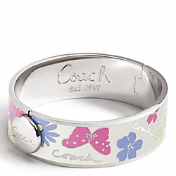 COACH THREE QUARTER INCH BUTTERFLY HINGED BANGLE - ONE COLOR - F95499