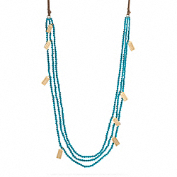 POPPY BEAD AND SUEDE NECKLACE - f95514 - 1453