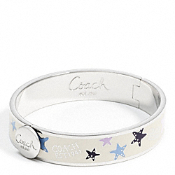 COACH HALF INCH HINGED STARFISH BANGLE - ONE COLOR - F95559
