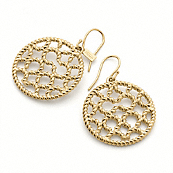COACH MIRANDA ROPE OP ART DISC EARRINGS - ONE COLOR - F95593