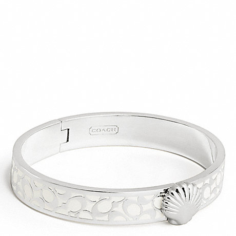 COACH THIN HINGED SHELL BANGLE -  - f95597