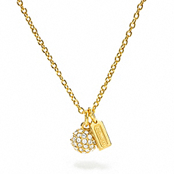 COACH PAVE BALL NECKLACE - ONE COLOR - F95641