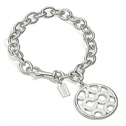 COACH STERLING OP ART DISC BRACELET - ONE COLOR - F95648